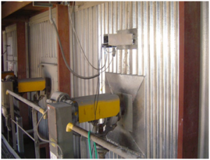 System installed on the furnace wall (Hadera power plant)